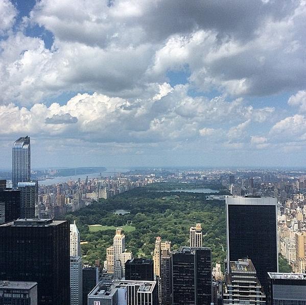 new york vue sur manhattan top of the rock