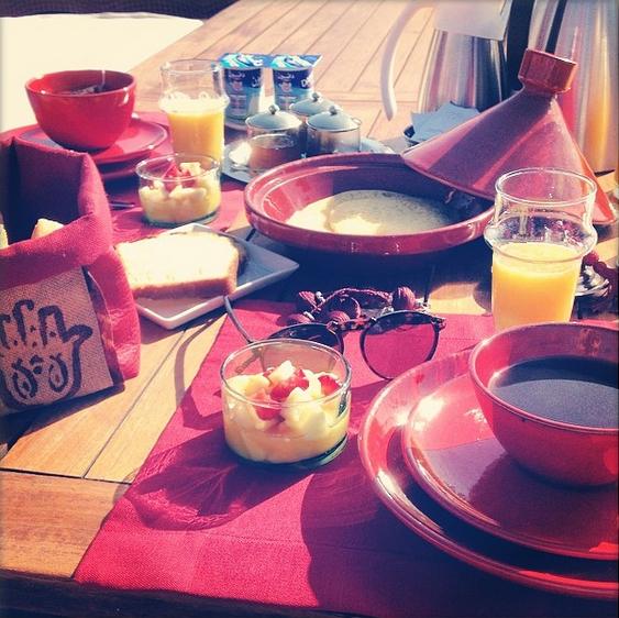 Petit-déjeuner riad Dar Karma