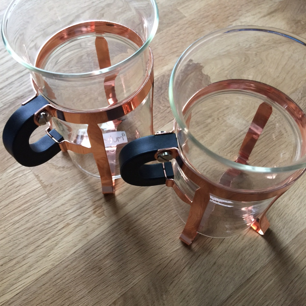 mug cuivre rosé bodum
