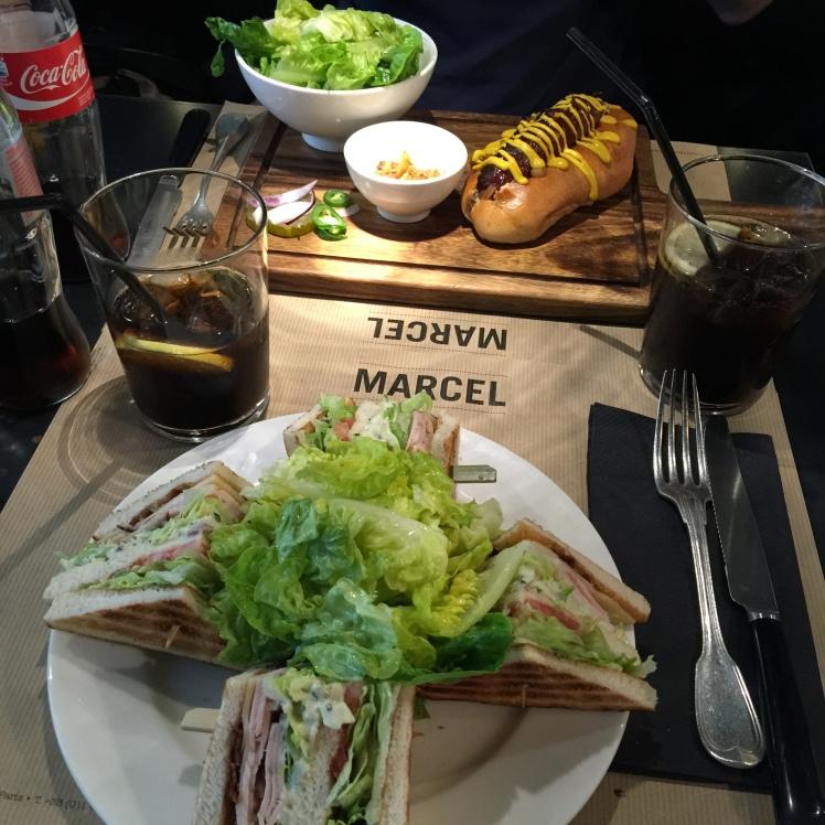 Menu restaurant marcel