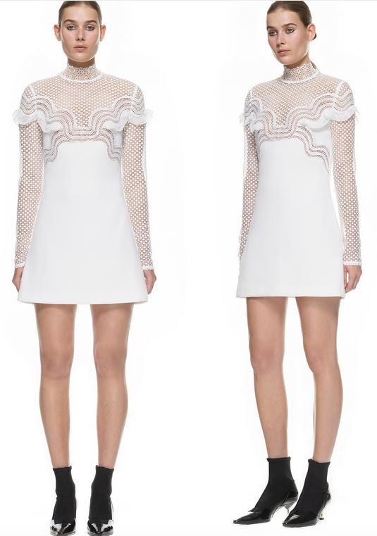 robe blanche mariage civil self portrait dentelle
