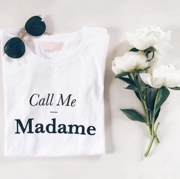 t-shirt mariage call me madame rime arodaky eshop