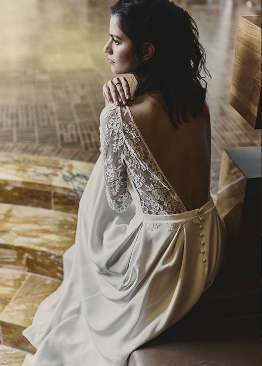 robe de mariée laure de sagazan modèle guibert